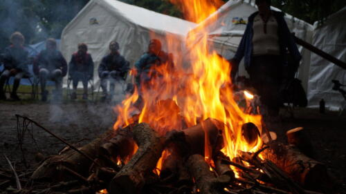 Summer Camp Fires in the rain  006
